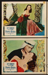 9y065 FLAME OF ARABY 5 color English FOH LCs '51 sexy Maureen O'Hara & Jeff Chandler!