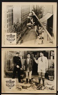 9y010 GOLDEN AGE OF COMEDY 8 English FOH LCs '58 Laurel & Hardy, Jean Harlow, 2 Academy Awards!