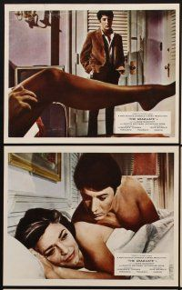 9y058 GRADUATE 6 color English FOH LCs '68 Dustin Hoffman, Katharine Ross, Anne Bancroft, classic!