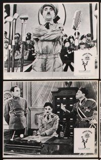 9y059 GREAT DICTATOR 6 English FOH LCs R72 Charlie Chaplin directs and stars, wacky WWII comedy!