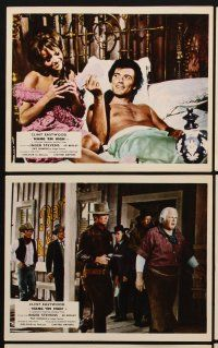 9y014 HANG 'EM HIGH 8 color English FOH LCs '68 Clint Eastwood & pretty Inger Stevens!