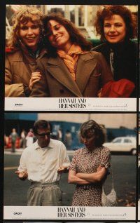 9y015 HANNAH & HER SISTERS 8 color English FOH LCs '86 Woody Allen, Mia Farrow, Weist & Hershey!