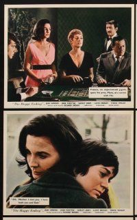 9y017 HAPPY ENDING 8 color English FOH LCs '70 Jean Simmons, John Forsythe, gambling scene!