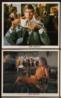 9y018 HARD CONTRACT 8 color English FOH LCs '69 James Coburn, Lee Remick, Lilli Palmer, Meredith