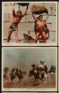 9y024 HERCULES, SAMSON, & ULYSSES 8 color English FOH LCs '65 the world's three mightiest men!