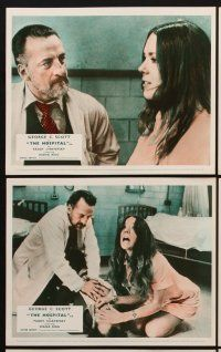 9y027 HOSPITAL 8 color English FOH LCs '71 George C. Scott, Paddy Chayefsky, Diana Rigg