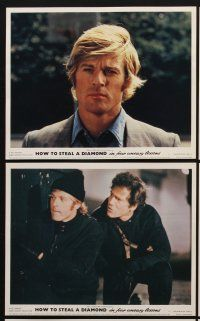 9y028 HOT ROCK 8 color English FOH LCs '72 Robert Redford, George Segal, Ron Leibman, Moses Gunn