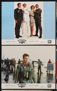 9y029 HOT SHOTS 8 color English FOH LCs '91 Charlie Sheen, Valeria Golino, Lloyd Bridges, Cary Elwes