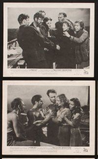 9y001 LIFEBOAT 8 English FOH LCs '43 Alfred Hitchcock, John Steinbeck, Tallulah Bankhead!