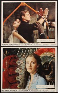9y034 LIVE & LET DIE 8 color English FOH LCs '73 Roger Moore as James Bond, sexy Jane Seymour