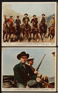 9y061 MAGNIFICENT SEVEN 6 color English FOH LCs '60 Yul Brynner, Charles Bronson, Steve McQueen
