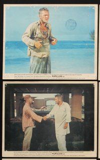 9y039 PAPILLON 8 color English FOH LCs '73 Steve McQueen & Dustin Hoffman on Devil's Island!