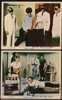 9y069 SPY WITH MY FACE 5 color English FOH LCs '66 Robert Vaughn, McCallum, Berger, Man from UNCLE!