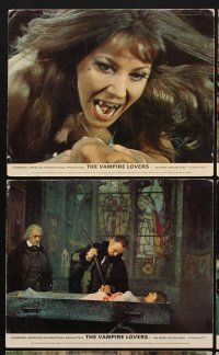 9y055 VAMPIRE LOVERS 7 color English FOH LCs '70 Hammer, Peter Cushing, Ingrid Pitt, sexy horror!