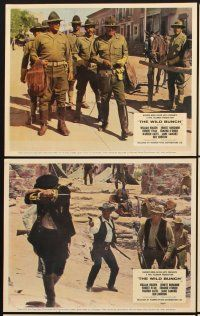 9y063 WILD BUNCH 6 color English FOH LCs '69 William Holden, Ernest Borgnine, Sam Peckinpah classic