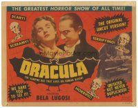 1c185 DRACULA TC R51 Tod Browning horror classic, vampire Bela Lugosi choking Helen Chandler!