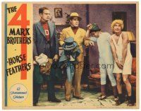 1c326 HORSE FEATHERS LC '32 two kidnappers take bashful Chico & Harpo Marx's clothes!