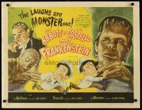 1d021 ABBOTT & COSTELLO MEET FRANKENSTEIN 1/2sh R56 plus the Wolfman & Dracula are after Bud & Lou