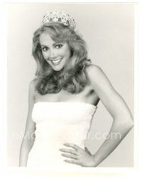 1m003 1982 MISS USA PAGEANT TV 7x9 still '82 Kim Seelbrede, Miss USA 1981, will crown new winner!