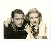 1m008 3 WISE GUYS deluxe 8x10 still '36 close up of Robert Young & Betty Furness by Virgil Apger!