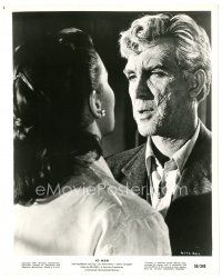 1m010 4D MAN 8x10 still '59 close up of disfigured Robert Lansing with Lee Meriwether!