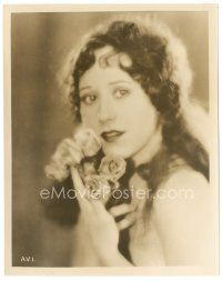 1m020 ALBERTA VAUGHN 8x10 still '30s head & shoulders portrait holding roses!