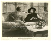 1m025 ANGEL 8x10 still '37 Marlene Dietrich in great outfit with Laura Hope Crews!