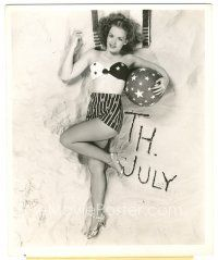1m027 ANGELA GREENE 8x10 still '46 sexy full-length 4th of July pose in skimpy outfit by Longworth