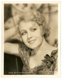 1m028 ANITA PAGE 8x10 still '30s head & shoulders smiling portrait with her hand behind her head!