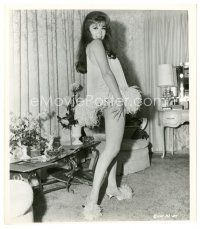 1m036 ANN-MARGRET 8x9.25 still '66 sexiest full-length c/u in feathered nightie & matching shoes!