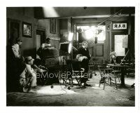 1m033 ANNA CHRISTIE candid 8x10 still R60s Clarence Brown directing Greta Garbo on bar set!