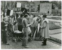 1m034 ANNE OF THE THOUSAND DAYS candid 7.5x9.5 still '70 director Charles Jarrott laughing on set!