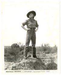 1m041 ARIZONA 8x10 still '40 Jean Arthur full-length with her hands on her hips!