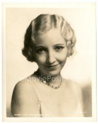1m050 BESSIE LOVE 8x10 still '30s head & shoulders smiling portrait of the pretty actress!