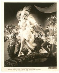 1m053 BETTY HUTTON 8x10 still '43 dancing & singing full-length in wild sexy feathered outfit!!