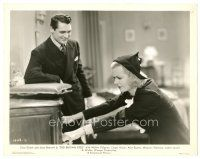 1m054 BIG BROWN EYES 8x10 still '36 Cary Grant laughs at Joan Bennett pulling drawer!