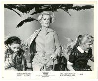 1m055 BIRDS 8.25x10 still '63 Alfred Hitchcock, close up of Tippi Hedren & kids attacked by birds!