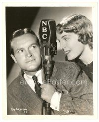 1m060 BOB HOPE 8x10 radio still '37 by NBC microphone with his latest Honeychile!