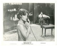 1m061 BOCCACCIO '70 8x10 still '62 close up of sexy topless Romy Schneider talking on phone!
