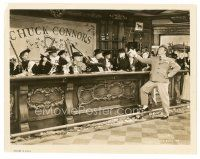 1m064 BOWERY 8x10 still '33 dapper Wallace Beery smiles at angry female prohibitionists behind bar