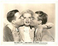 1m066 BOY MEETS GIRL 8x10 still '38 James Cagney & Pat O'Brien kissing pretty Marie Wilson!