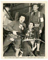 1m072 BUCK PRIVATES candid 8x10 still '41 Arthur Lubin directs Bud Abbott & Lou Costello on set!