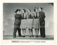 1m074 BUCK PRIVATES 8x10 still R53 Bud Abbott & Lou Costello with The Andrews Sisters in uniform!