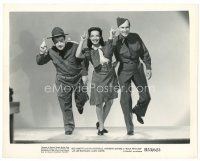 1m075 BUCK PRIVATES 8x10 still R53 Jane Frazee dancing between Bud Abbott & Lou Costello!
