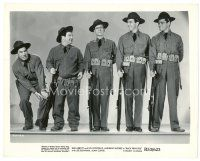 1m076 BUCK PRIVATES 8x10 still R53 Bud Abbott, Lou Costello smashes Sergeant's foot with gun!