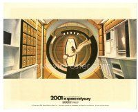 1m007 2001: A SPACE ODYSSEY color English FOH LC '68 stewardess walking upside-down in Cinerama!