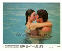 1m069 BREATHLESS 8x10 mini LC #6 '83 Richard Gere & sexy Valerie Kaprisky in swimming pool!