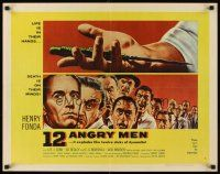 1y001 12 ANGRY MEN style A 1/2sh '57 Henry Fonda, Sidney Lumet jury classic, life is in their hands