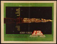 1y002 12 ANGRY MEN style B 1/2sh '57 Henry Fonda, Sidney Lumet jury classic, life is in their hands