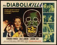 1y007 3rd VOICE 1/2sh '60 Edmond O'Brien, it's diabolikill, cool art of huge skull!